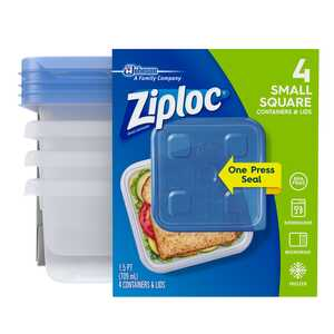Ziploc  Food Storage Container  4 pk Clear  24 oz.