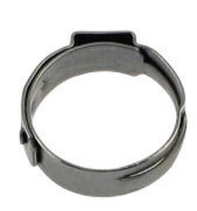 SharkBite  3/8 in. PEX   x 3/8 in. Dia. PEX  Stainless Steel  Clamp Rings