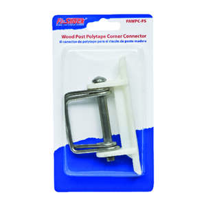 Fi-Shock  Wood Post Poly Tape Corner Connector  White