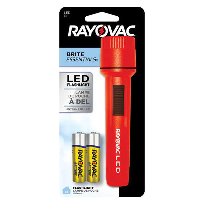 Rayovac  Brite Essentials  12 lumens Red  LED  Flashlight  AA