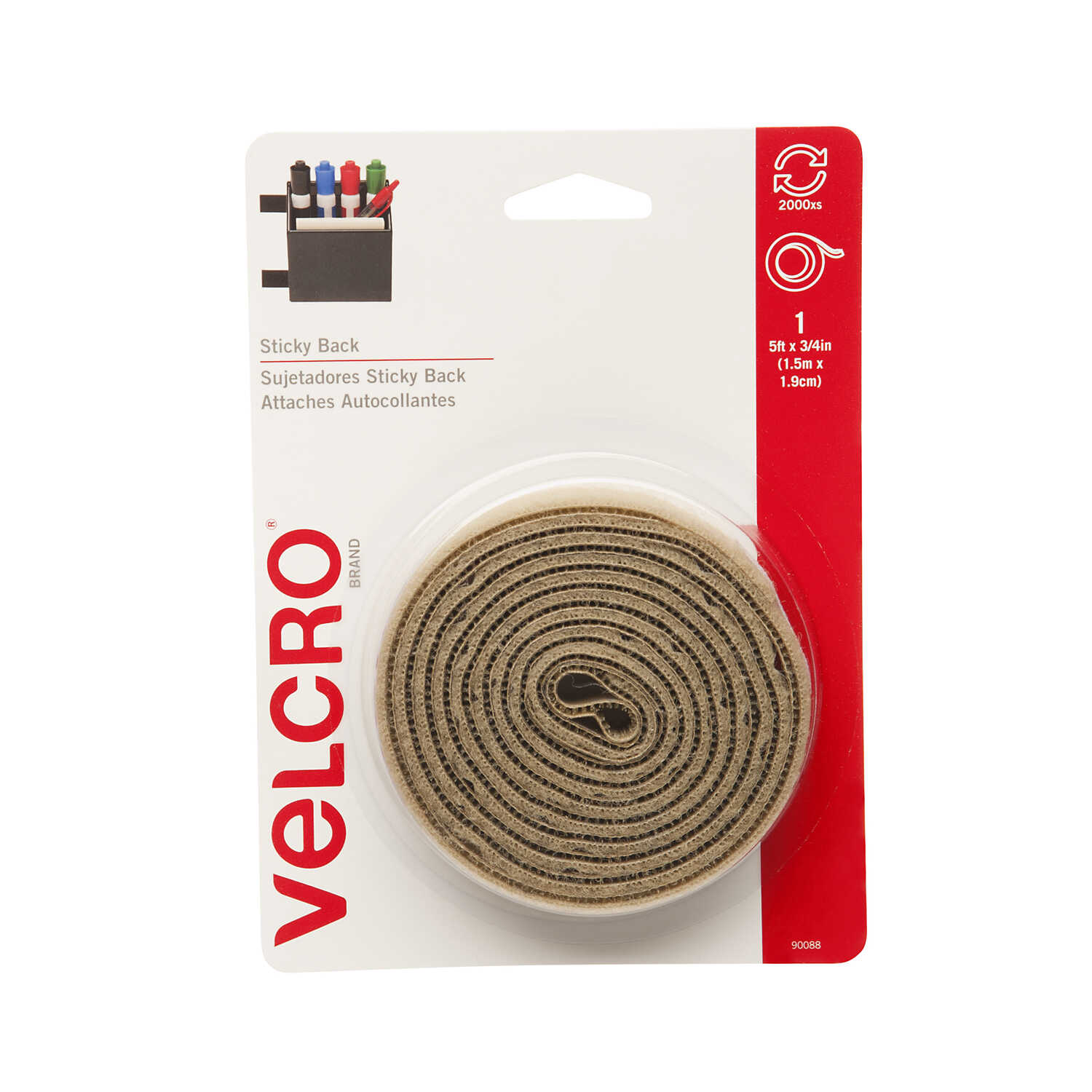 Velcro  Hook and Loop Fastener  60 in. L 1 pk