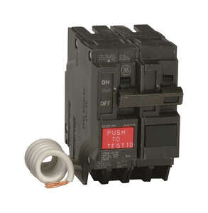 GE  30 amps Ground Fault  2-Pole  Circuit Breaker w/Self Test