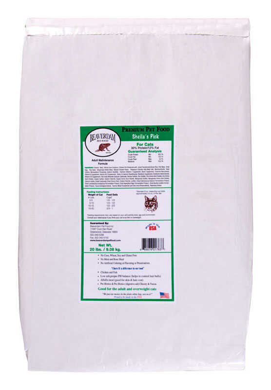 Sheila's  Sheilas Pick Green Label  Chicken and Fish  Dry  Cat  Food  20 lb