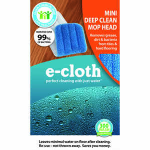 E-Cloth  Mini Deep Clean  5 in. W x 11 in. L Polyester Blend  Mop Refill  1 pk