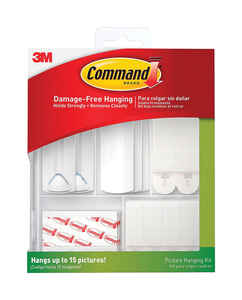 3M  Command  White  Foam  5 lb. 38 pk Picture Hanging Kit