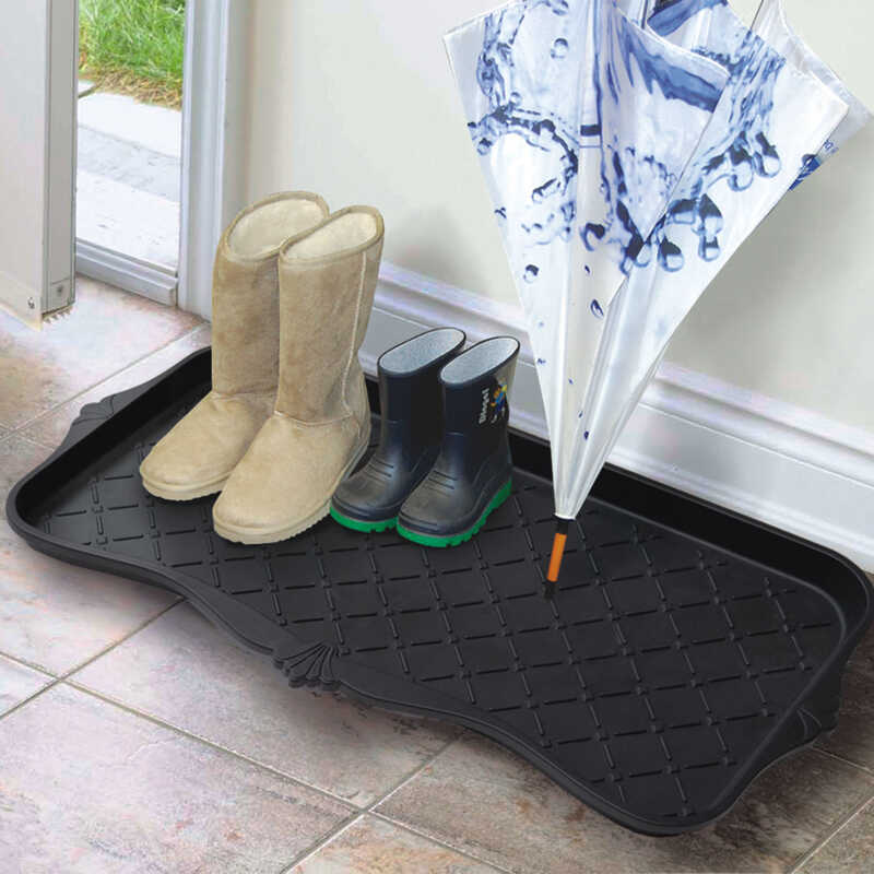 EcoTrend Majestic Black PVC Boot Tray 15 in  L x 30 in  W