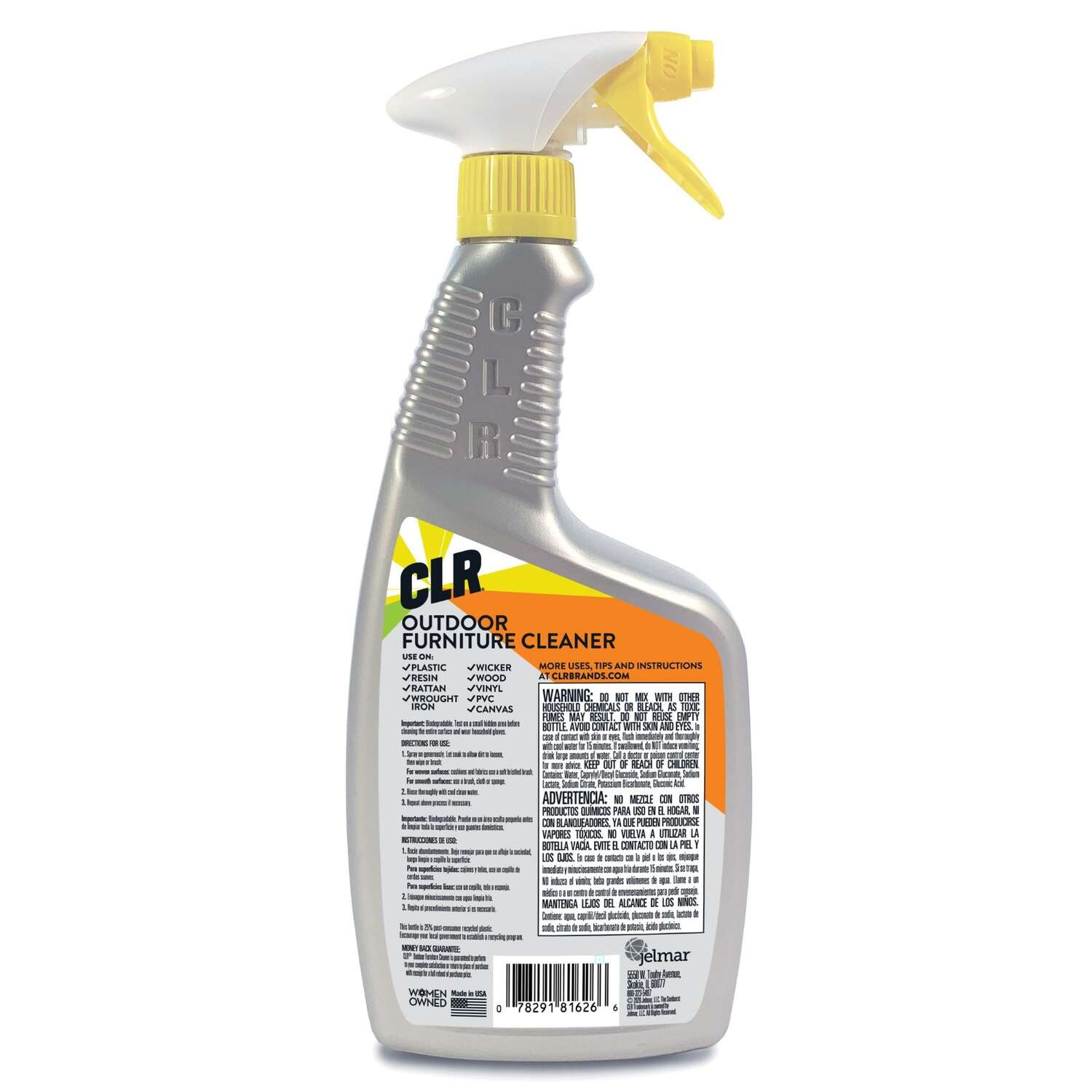 CLR  No Scent Outdoor Furniture Cleaner  26 ounce  Spray
