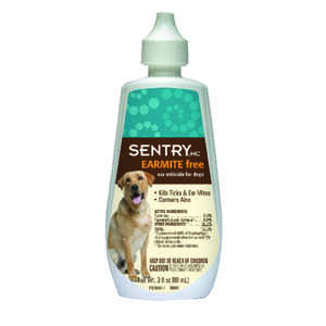 Sentry Ear Mite Free Miticide for Dogs Dogs 1 oz.