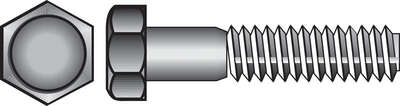 Hillman 3/8 in. Dia. x 5 in. L Zinc Plated Steel Hex Bolt 50 pk