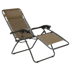 Living Accents  1 pc. Black  Steel Frame Relaxer  Chair  Taupe