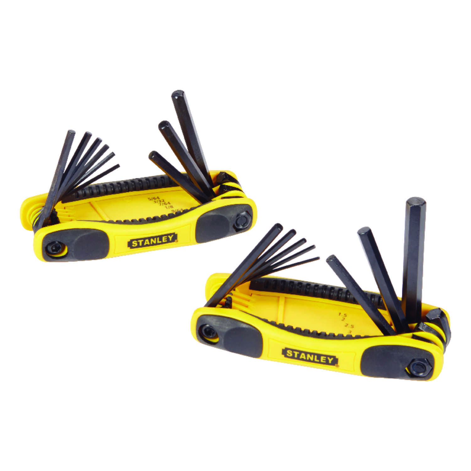 Stanley  Multi-Size  Metric and SAE  Fold-Up  Folding Locking Hex Key Set  6.7 in. 17