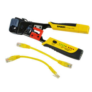 Sperry  Crimp-n-Test  8 in. Crimping Tool with Tester  Yellow  1 pk