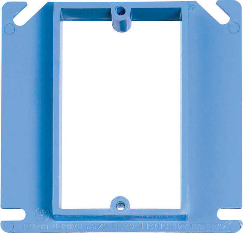 Carlon  Square  PVC  1 gang Box Cover  For Use with Non-Metallic Sheathed Cable