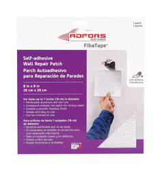 Adfors  FibaTape asdf  8 in. L x 8 in. W Fiberglass Mesh  White  Self Adhesive Wall Repair Patch