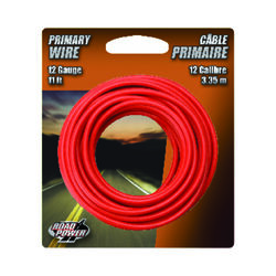 Coleman Cable  11 ft. 12 Ga. Primary Wire  Red