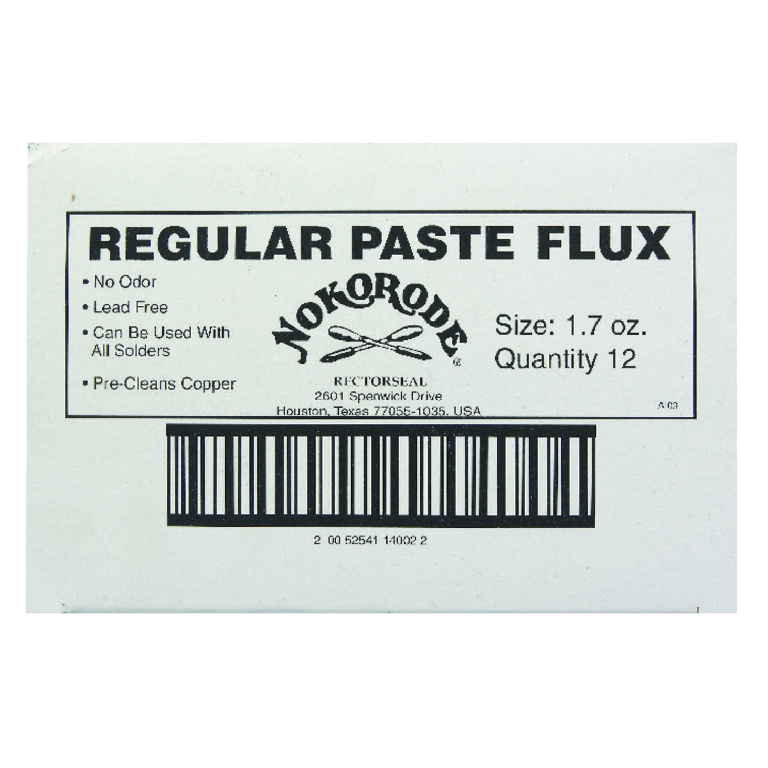 Rectorseal  1.7 oz. Lead-Free Soldering Flux  1 pc. Tin/Antimony