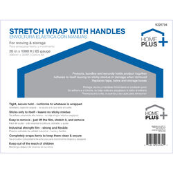 Home Plus 20 in. W x 1000 L Stretch Film