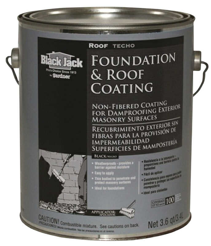 Black Jack  Gloss  Black  Asphalt  Asphalt Roof Coating  1 gal.