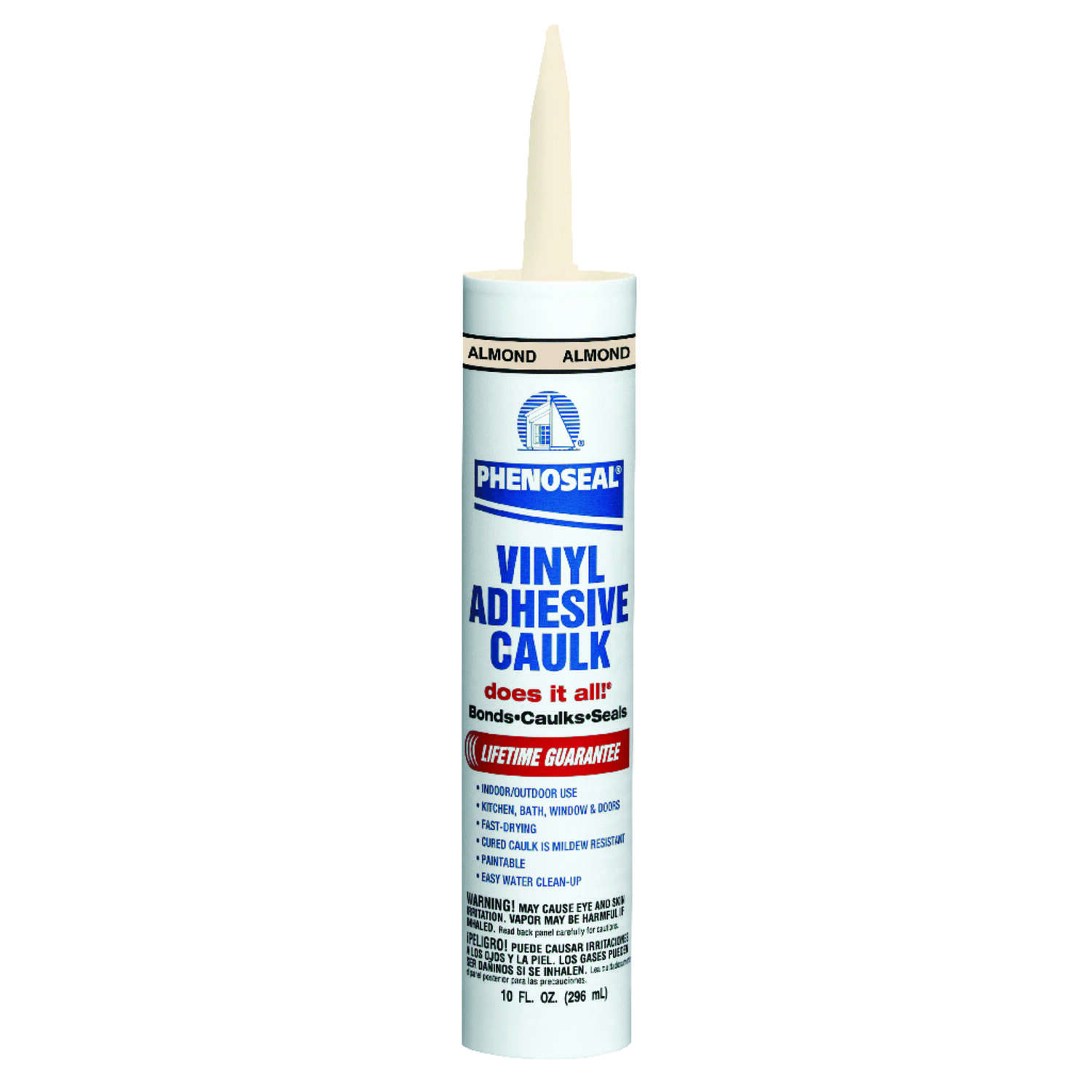Phenoseal Almond Vinyl All Purpose Adhesive Caulk 10 oz.