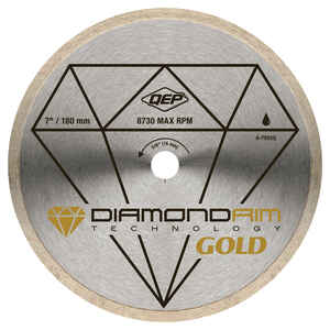 QEP  Gold  7 in. Dia. x 5/8 in.  Steel  Continuous Rim Diamond Saw Blade  1 pc.
