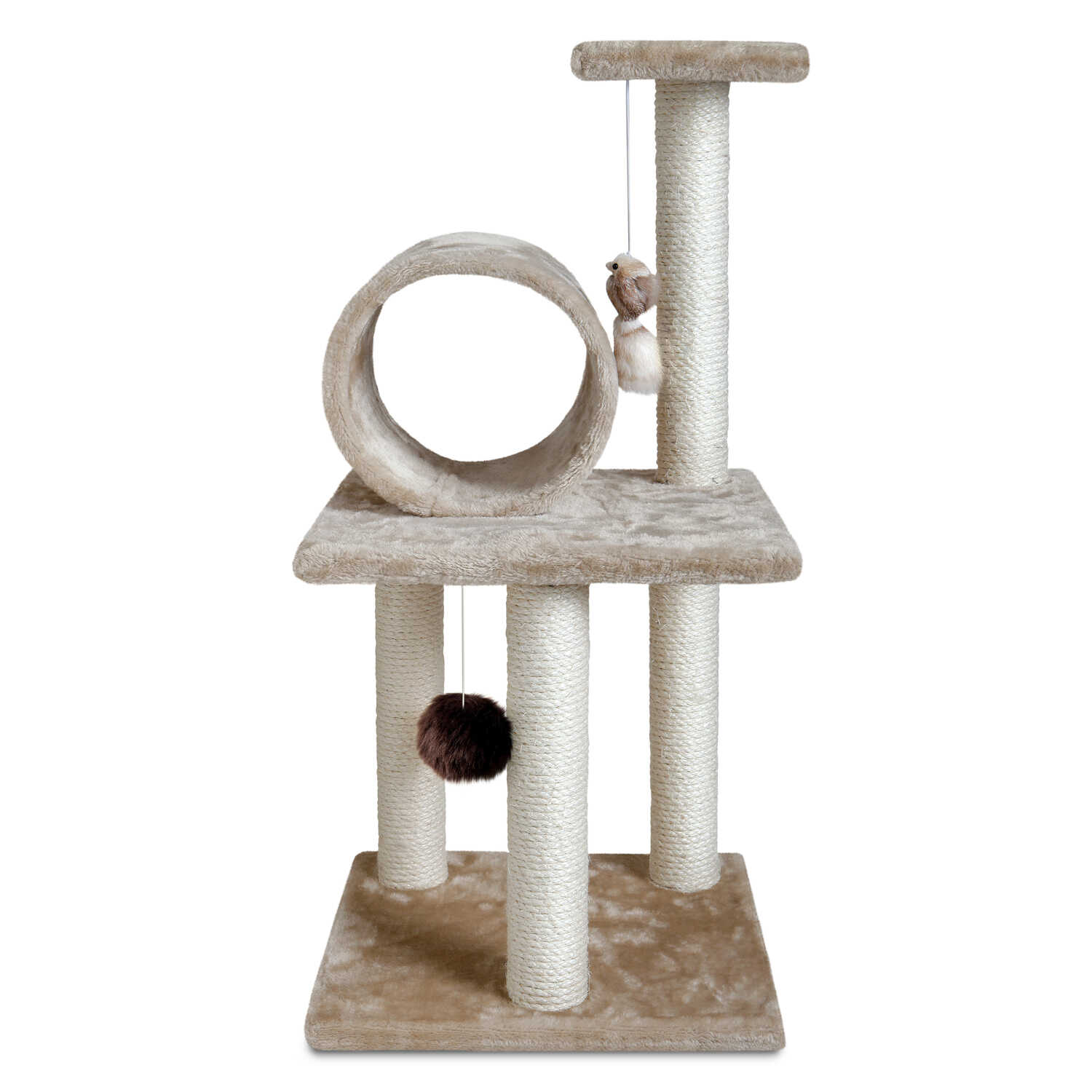 Animal Planet  Polyester  Cat Tree  Tan  30 in. H x 15 in. W x 14 in. D