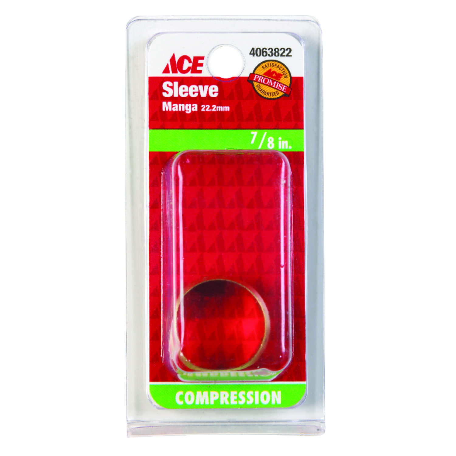 Ace  7/8 in. Compression   Brass  Compression Sleeve