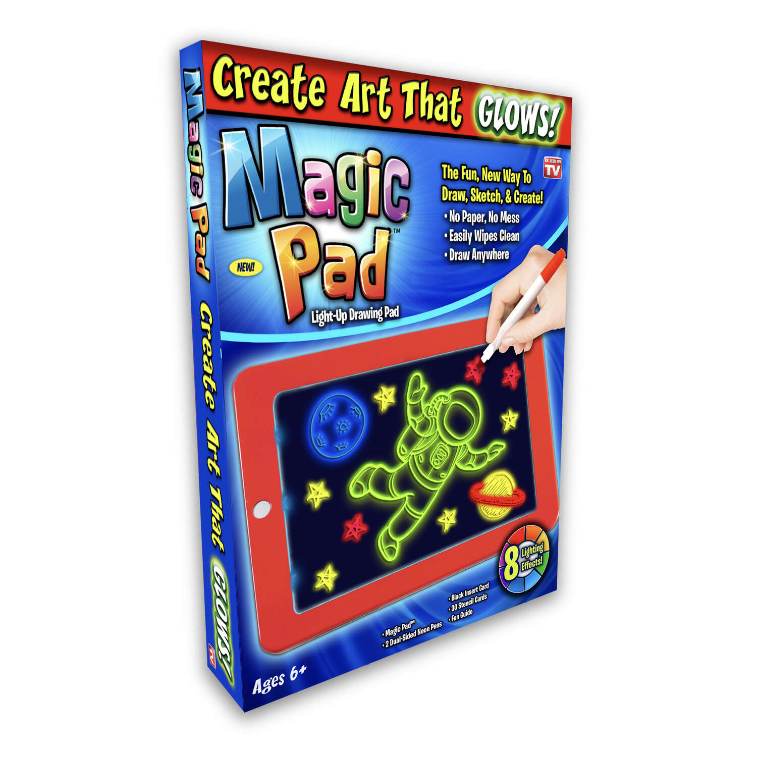 Magic Pad  As Seen On TV  Light-Up Drawing Pad  Plastic  Multi-Colored
