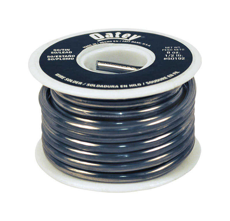 Oatey  Solid Wire Solder  0.125 in. Dia. Tin/Lead  50/50