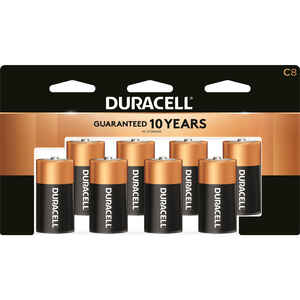 Duracell  Coppertop  C  Alkaline  Batteries  1.5 volt 8 pk Carded