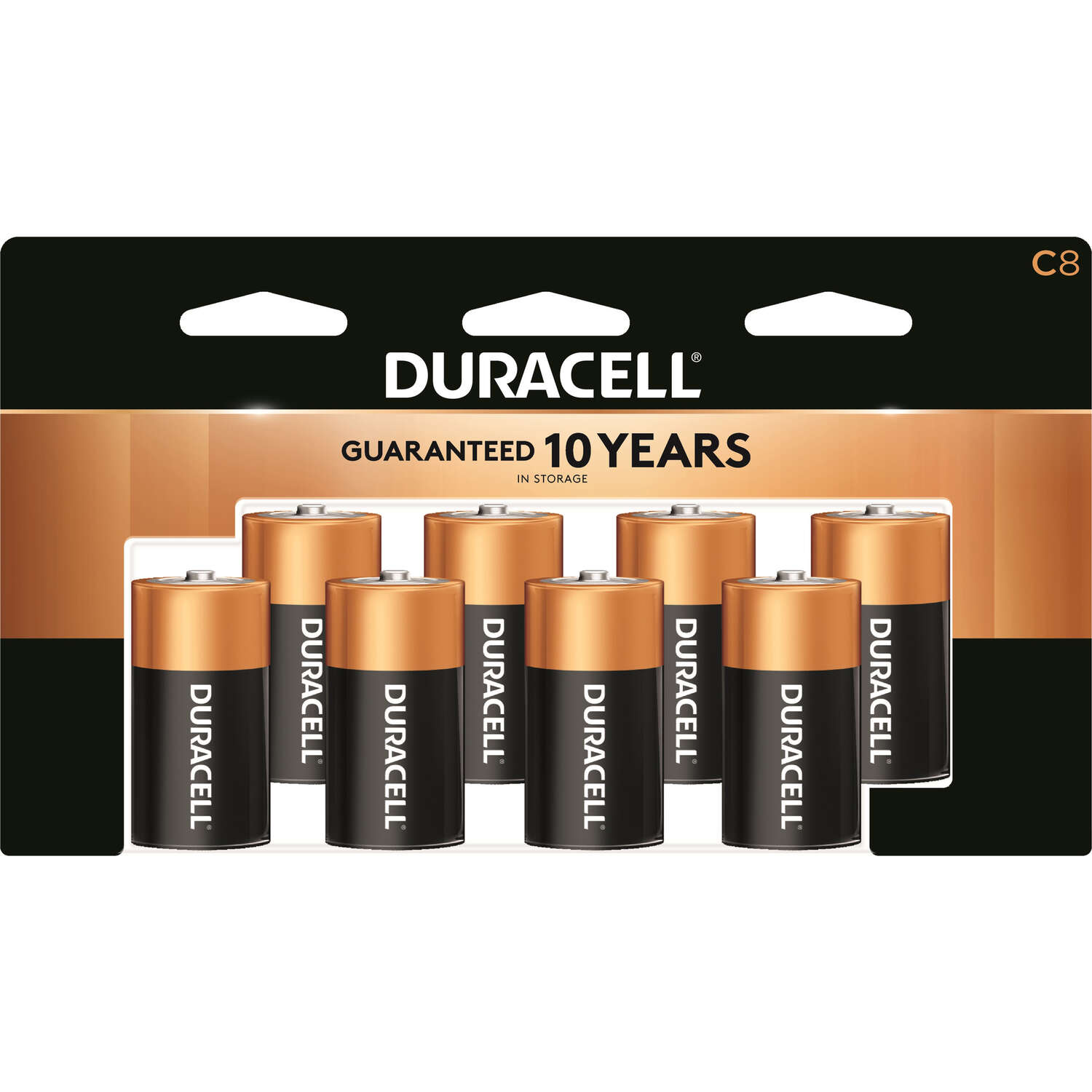 Duracell  Coppertop  C  Alkaline  Batteries  8 pk Carded