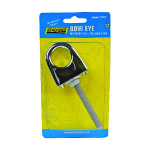 Seachoice  Galvanized  1 in. W Bow Eye  1 pc. Galvanized Steel/PVC