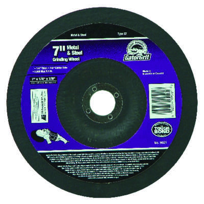 Gator  7 in. Dia. x 1/4 in. thick  x 7/8 in.   Metal Grinding Wheel  1 pc.