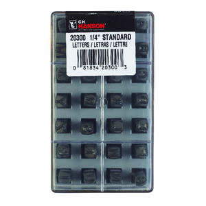 C.H. Hanson  1/4 in. Gray  Steel  Letter Stamp Set  A-Z  Nail-On  1 pk