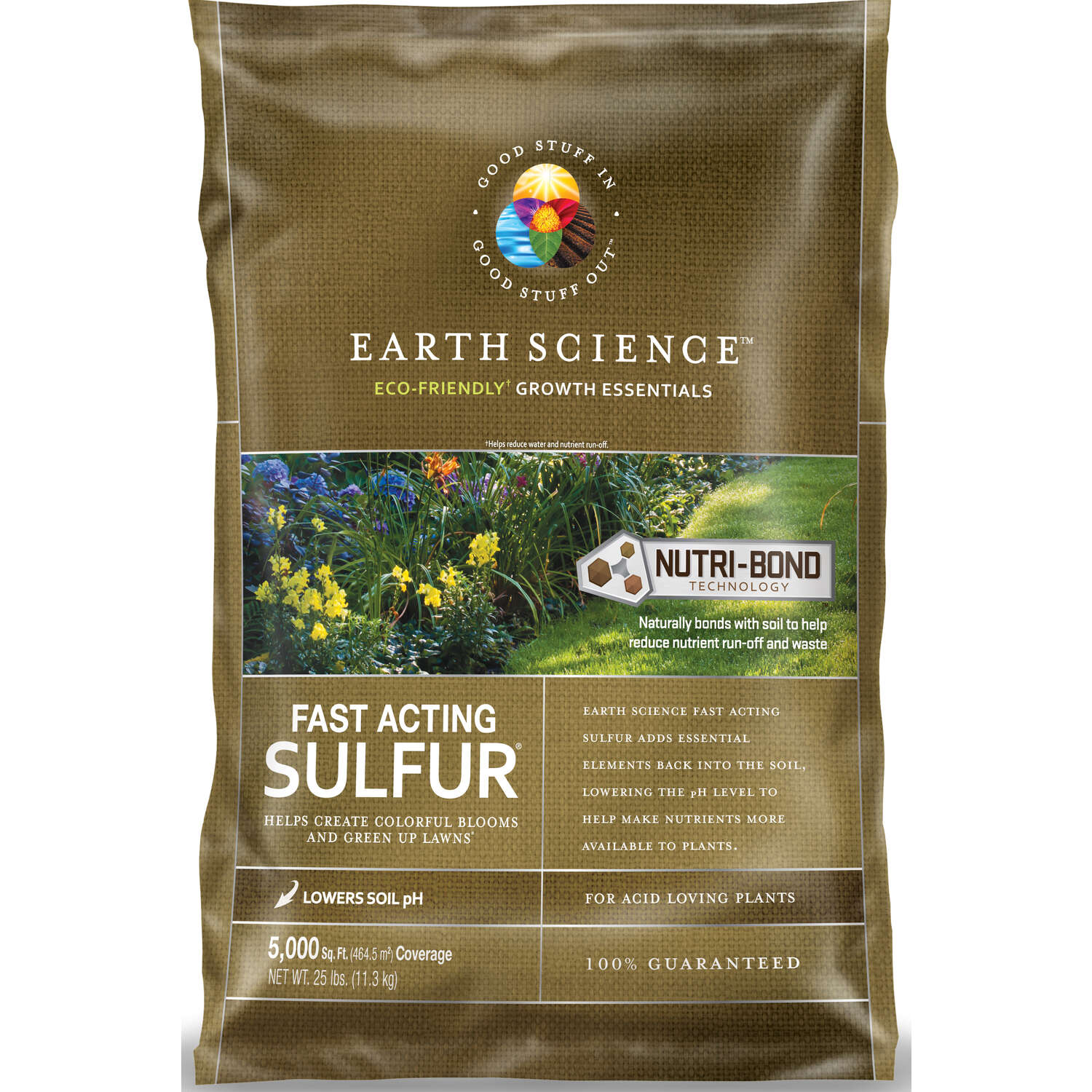 Earth Science  Soil Sulphur  5000 sq. ft. 25 lb.