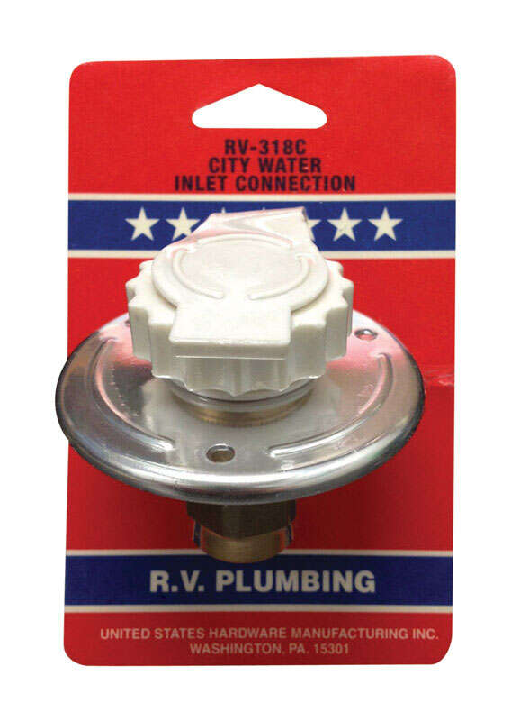 US Hardware  City Water Inlet Connection  1 pk