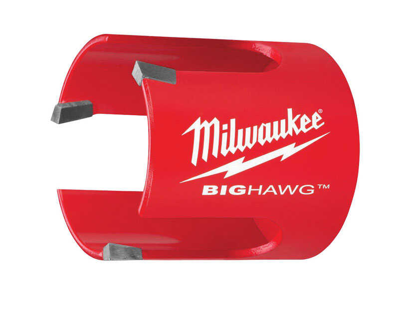 Milwaukee  BIG HAWG  4-1/4 in. Dia. x 2-1/4 in. L Bi-Metal  Carbide Tipped  Hole Saw  1/4 in. 1 pc.