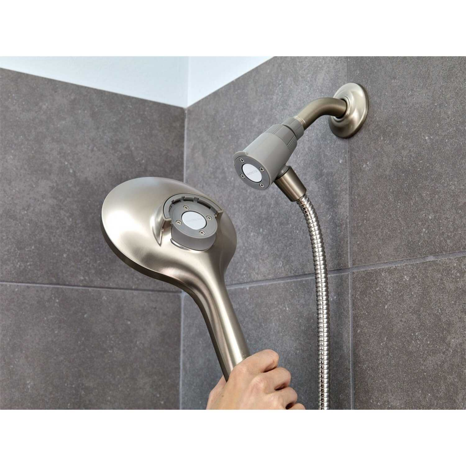 Moen  Engage  Brushed  Nickel  6 settings Handheld Showerhead  2 gpm