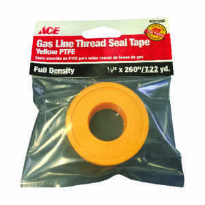 Ace  Yellow  260 in. L x 1/2 in. W Thread Seal Tape  0.07 oz.