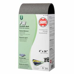 Shopsmith  36 in. L x 4 in. W Ceramic  Sanding Belt  80 Grit Medium  1 pc.