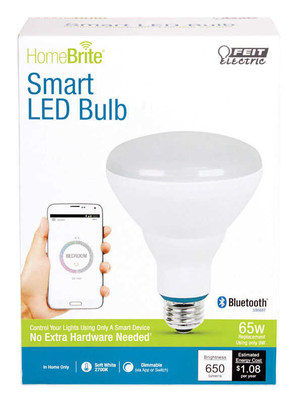 FEIT Electric  HomeBrite Smart  9 watts BR30  LED Bulb  650 lumens Soft White  65 Watt Equivalence R