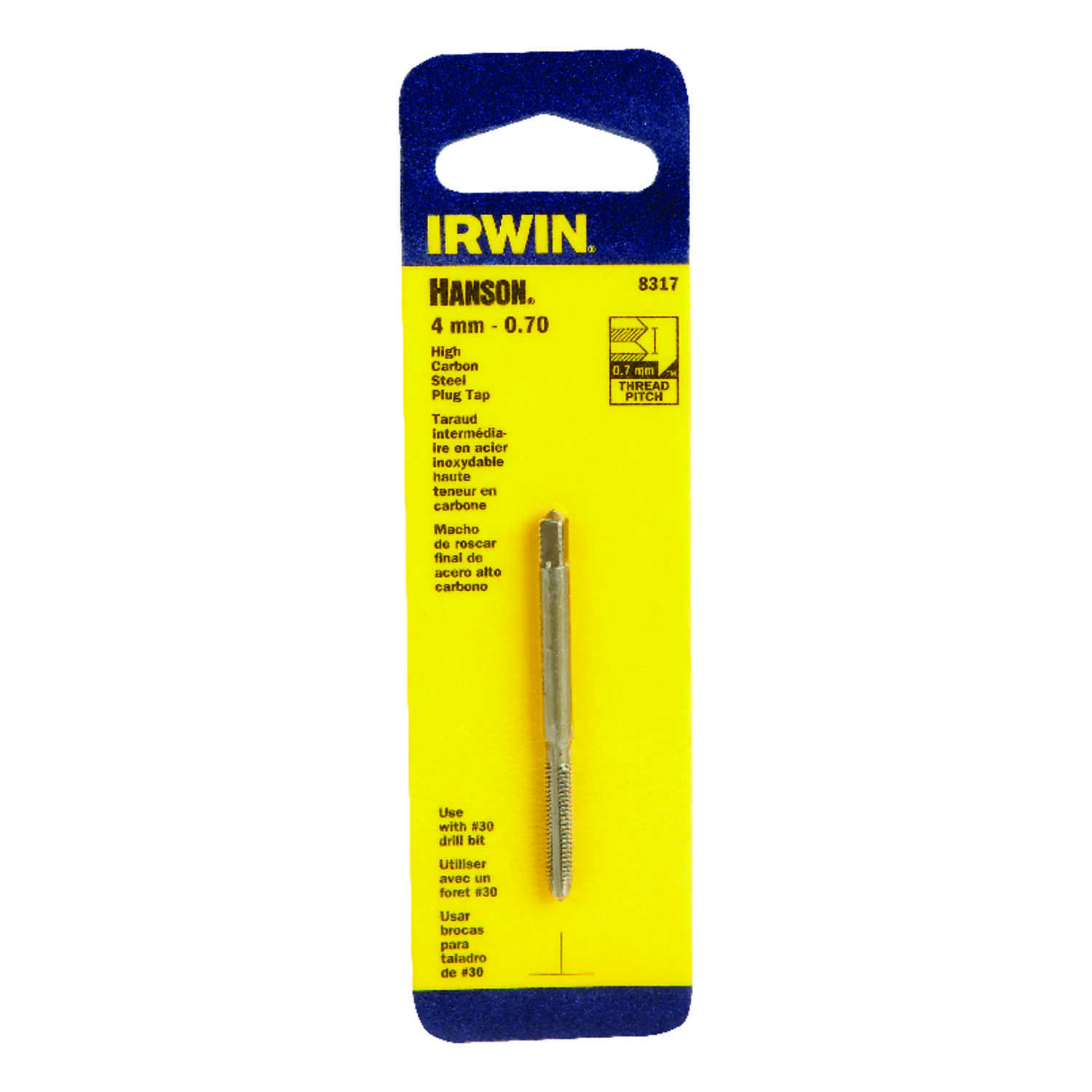 Irwin  Hanson  High Carbon Steel  Metric  Plug Tap  1 pc.