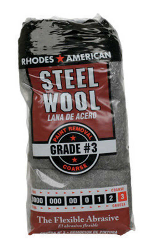Rhodes American  3 Grade Medium  Steel Wool Pad  12 pk