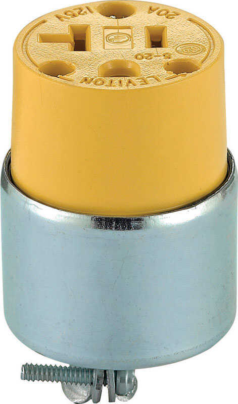 Leviton  Commercial  Armored  Polarized  Connector  5-20R  2 Pole 3 Wire