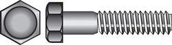 Hillman  1/4 in. Dia. x 3/4 in. L Zinc Plated  Steel  Hex Bolt  100 pk