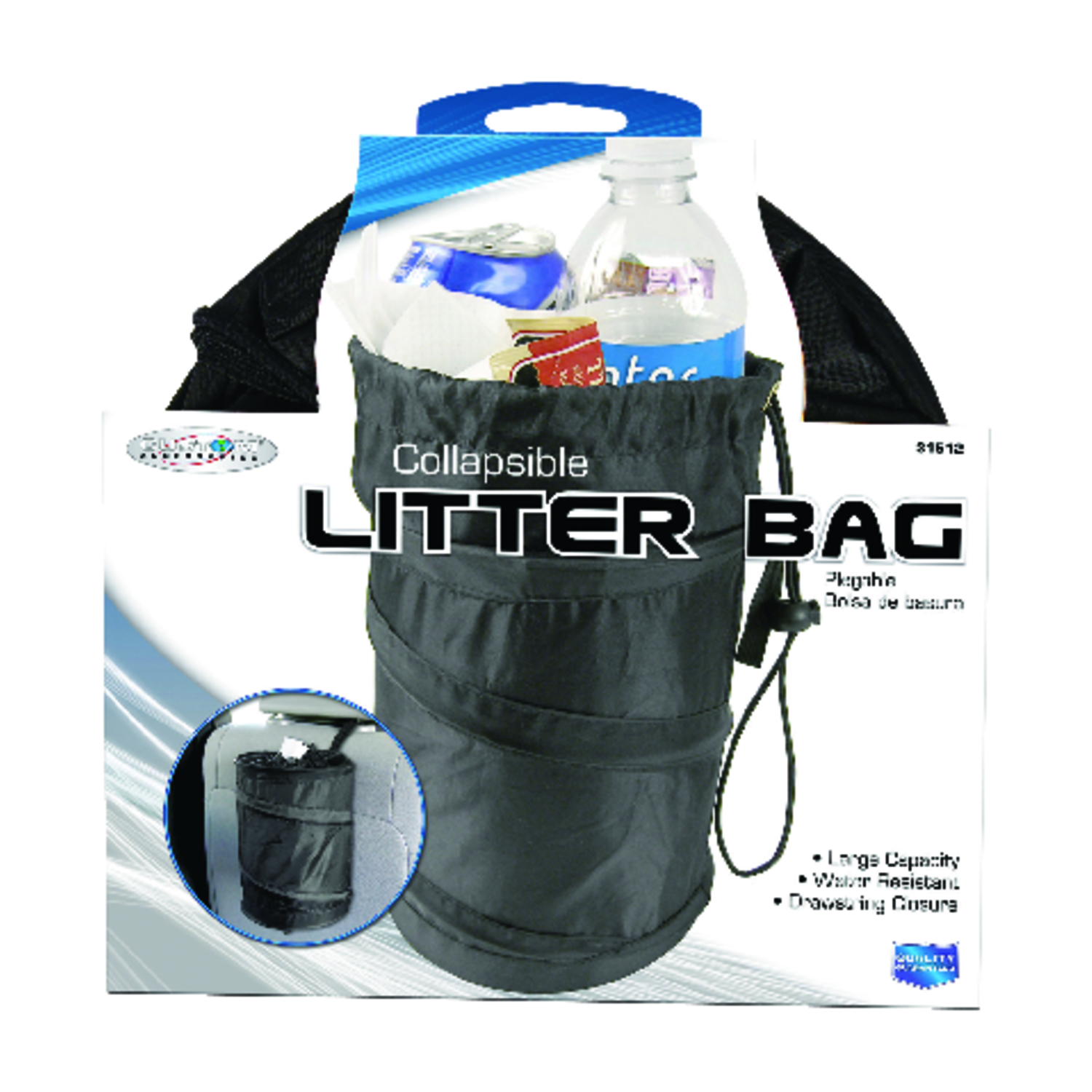 Custom Accessories  Black  1 pk Collapsible Trash-It Bag  Universally fits all vehicles