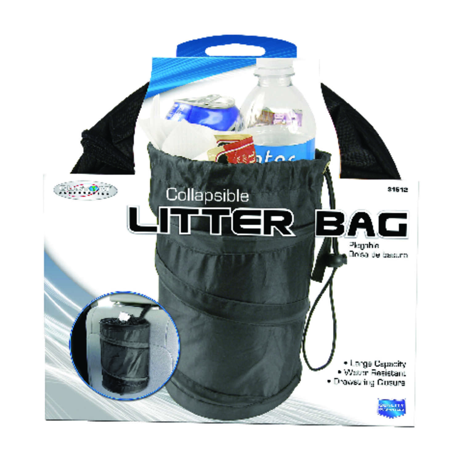 Custom Accessories  Black  Collapsible Trash-It Bag  1 pk Universally fits all vehicles