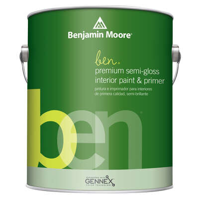 Benjamin Moore  Ben  Semi-Gloss  Base 2  Acrylic Latex  Paint  Indoor  1 qt.