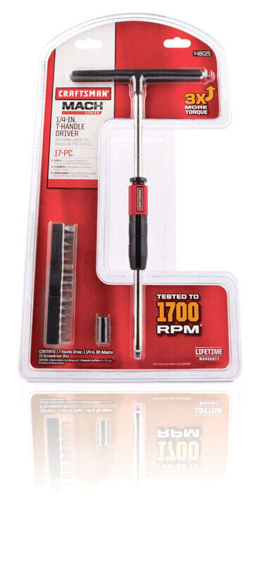 Craftsman  T-Handle Screwdriver  Steel  Red  1 set T Handle  17 Piece