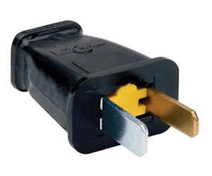 Pass & Seymour  Commercial and Residential  Thermoplastic  Polarized  Plug  1-15P  16 AWG 2 Pole 2 W