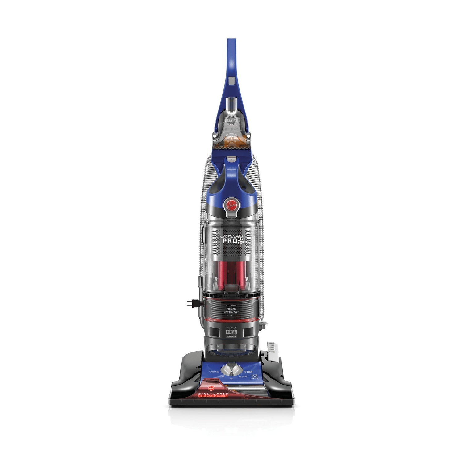 Hoover  Windtunnel 3 Pro Pet  Bagless  Upright Vacuum  12 amps HEPA  Blue